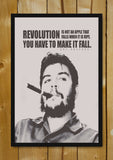 Glass Framed Posters, Revolution Che Guevara Quote Glass Framed Poster, - PosterGully - 1