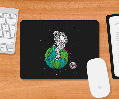 Mousepads, Ride The World Dark Grey Mousepad | By Captain Kyso, - PosterGully