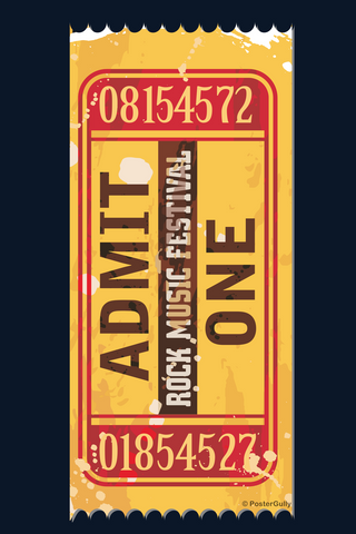 Wall Art, Rock Concert Ticket, - PosterGully