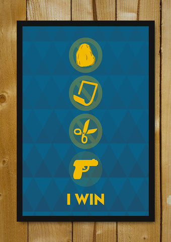 Glass Framed Posters, Rock Paper Scissors Glass Framed Poster, - PosterGully - 1