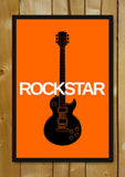 Glass Framed Posters, Rockstar Guitar Glass Framed Poster, - PosterGully - 1