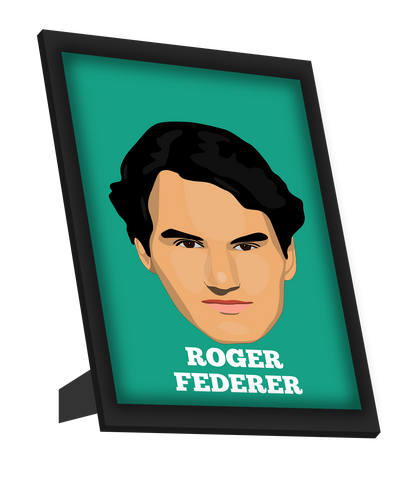Framed Art, Roger Federer | Minimal Design Framed Art, - PosterGully