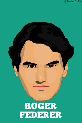 Wall Art, Roger Federer | Minimal Design, - PosterGully
