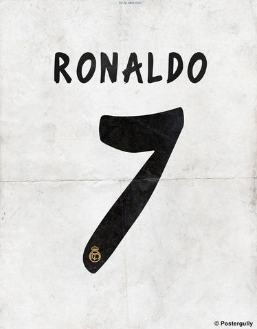PosterGully Specials, Ronaldo No. 7 Minimal Football Poster, - PosterGully