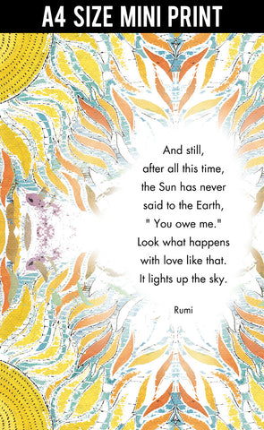 Mini Prints, Rumi | Light Up The Sky | Mini Print, - PosterGully