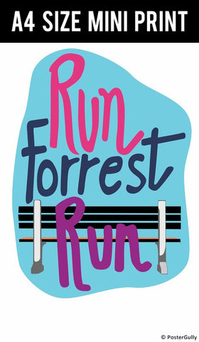 Mini Prints, Run Forrest Run - Forrest Gump | Mini Print, - PosterGully