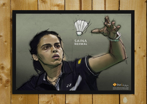 Glass Framed Posters, Saina Nehwal Tribute Poster Glass Framed Poster, - PosterGully - 1