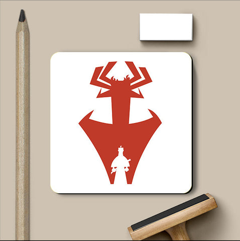 PosterGully Coasters, Samurai Jack Red Coaster | Artist: Rohit Malhotra, - PosterGully