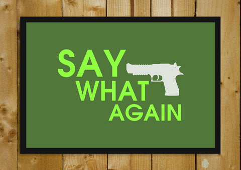 Glass Framed Posters, Say What Again Pulp Fiction Glass Framed Poster, - PosterGully - 1