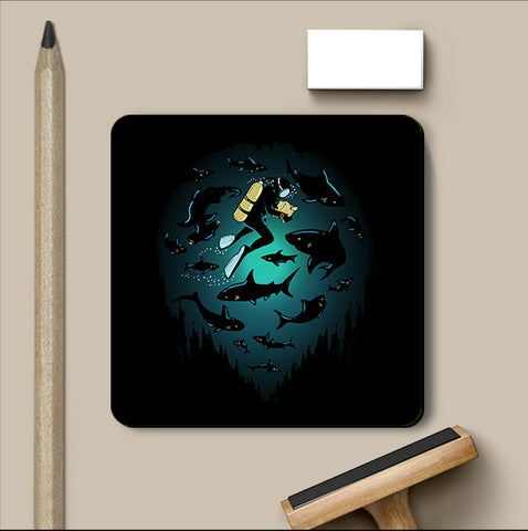 PosterGully Coasters, Screwed Coaster | By Captain Kyso, - PosterGully