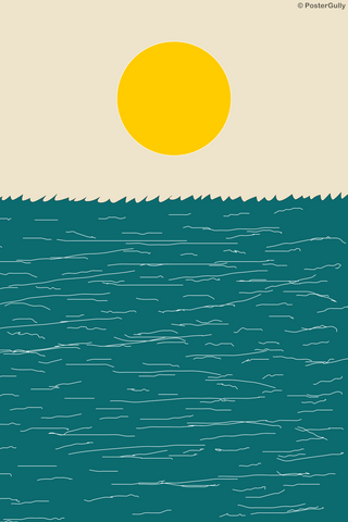 Wall Art, Sea And Sun Minimal Art, - PosterGully
