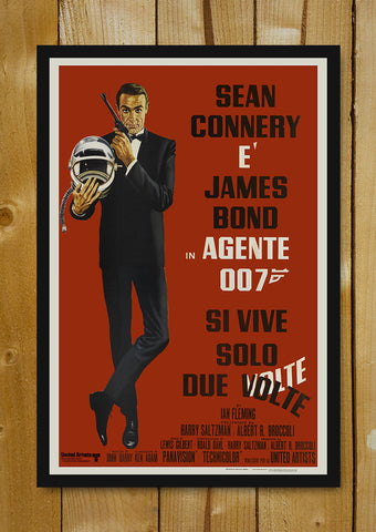Glass Framed Posters, Sean Connery James Bond Agent 007 Glass Framed Poster, - PosterGully - 1