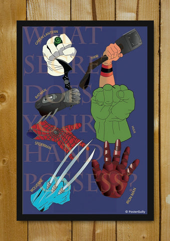 Glass Framed Posters, Secret of Hands | Avengers | Glass Framed Poster, - PosterGully - 1