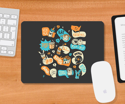 Mousepads, Seeing Music Everywhere Mousepad | By Captain Kyso, - PosterGully
