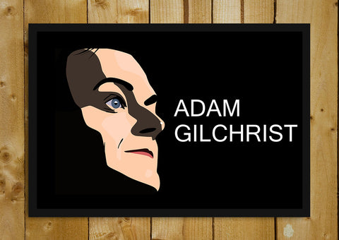 Glass Framed Posters, Shadow Adam Gilchrist Glass Framed Poster, - PosterGully - 1