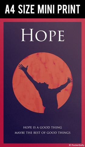 Mini Prints, Shawshank Redemption | Hope Is Good Thing | Mini Print, - PosterGully