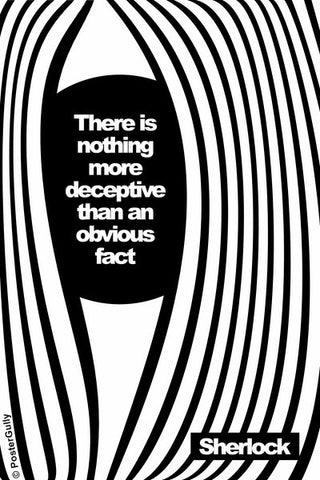 Wall Art, Sherlock Holmes | Quote | More Deceptive, - PosterGully