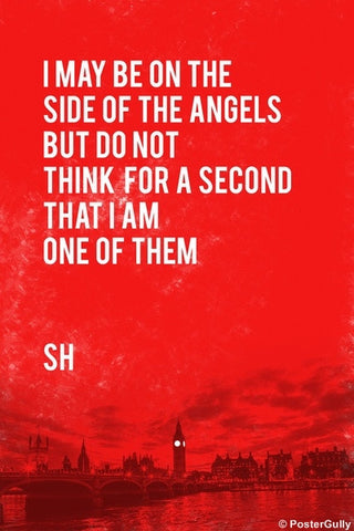 Wall Art, Sherlock Holmes | Quote | Side Of Angels, - PosterGully