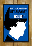 Glass Framed Posters, Sherlock Holmes Funny Little Brains Glass Framed Poster, - PosterGully - 1