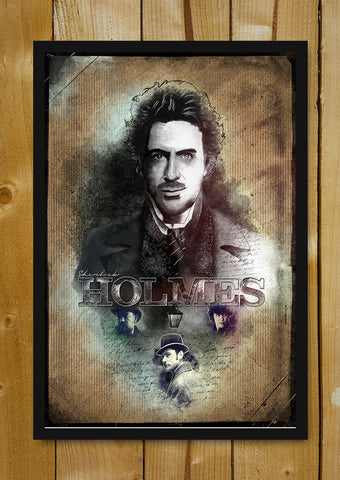 Glass Framed Posters, Sherlock Holmes Jaydhrit Glass Framed Poster, - PosterGully - 1