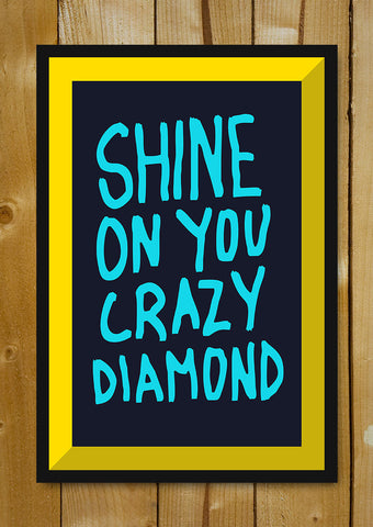 Glass Framed Posters, Shine On You Crazy Diamond Pink Floyd Glass Framed Poster, - PosterGully - 1
