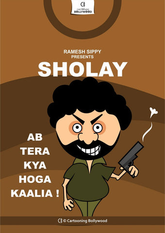 Wall Art, Sholay Cartoon Art, - PosterGully