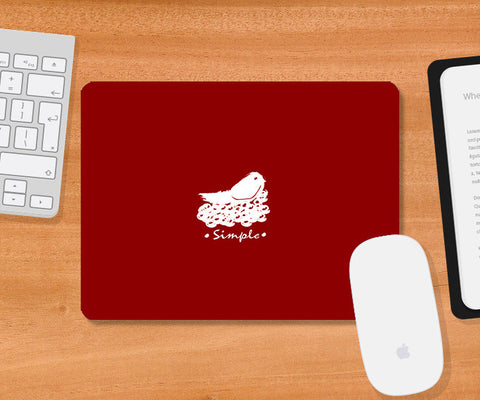 Mousepads, Simple Red Mousepad | Artist: Prashant Negi, - PosterGully