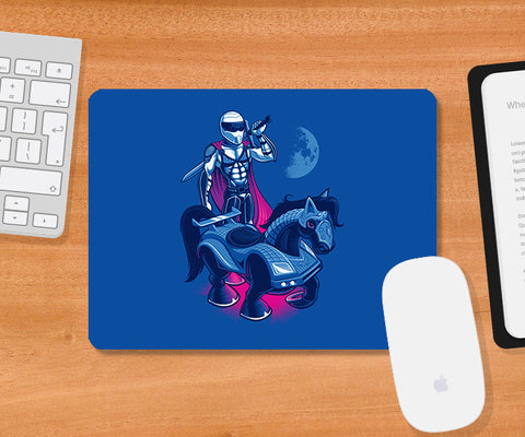 Mousepads, Sir Stig - Blue Mousepad | By Captain Kyso, - PosterGully
