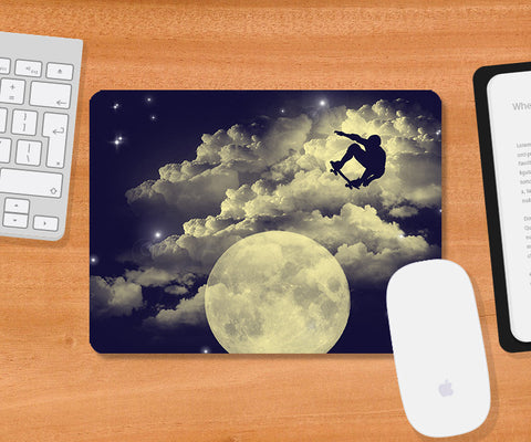 Mousepads, Sky Is The Limit - Dark Blue Mousepad | By Captain Kyso, - PosterGully
