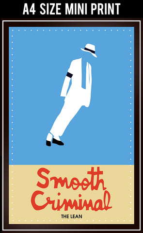 Mini Prints, Smooth Criminal | Michael Jackson | Mini Print, - PosterGully