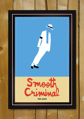 Glass Framed Posters, Smooth Criminal Michael Jackson Glass Framed Poster, - PosterGully - 1