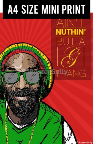 Mini Prints, Snoop Dogg | Aint Nuthin Artwork | Mini Print, - PosterGully