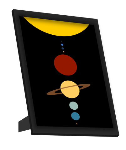 Framed Art, Solar System Minimal Framed Art, - PosterGully