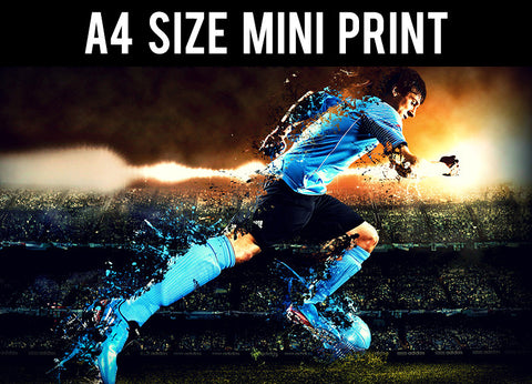 Mini Prints, Speeding Lionel Messi | Mini Print, - PosterGully