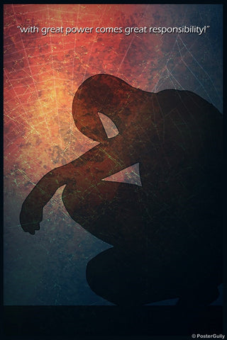 Wall Art, Spiderman | Great Power, - PosterGully