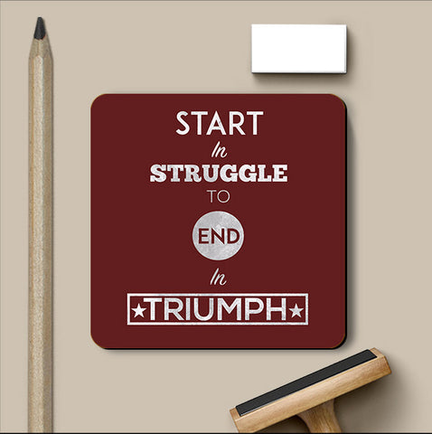 PosterGully Coasters, Start Struggle Coaster | Artist: Kumaraditya Dash, - PosterGully
