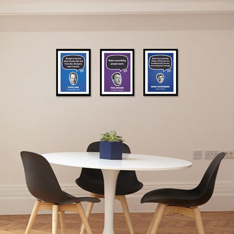 Set of 3 Business Rockstars - Laminated Frames