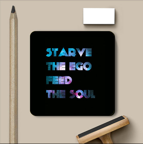 PosterGully Coasters, Starve The Ego Coaster | Artist: Shaurya Vardhan, - PosterGully