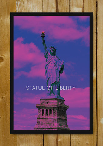 Glass Framed Posters, Statue Of Liberty New York Glass Framed Poster, - PosterGully - 1
