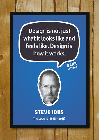 Glass Framed Posters, Steve Jobs Design Quote Glass Framed Poster, - PosterGully - 1