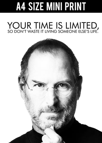 Mini Prints, Steve Jobs | Your Time Is Limited | Mini Print, - PosterGully