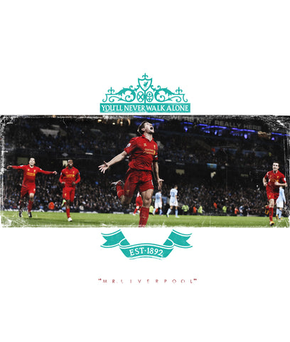 PosterGully Specials, Steven Gerrard | Liverpool  Minimal Art, - PosterGully