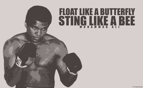 PosterGully Specials, Sting Like  A Bee | Ali Quote Poster, - PosterGully