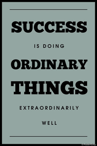 Wall Art, Success Quote | Ordinary, - PosterGully