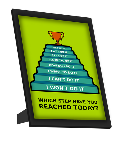 Framed Art, Success Steps Framed Art, - PosterGully