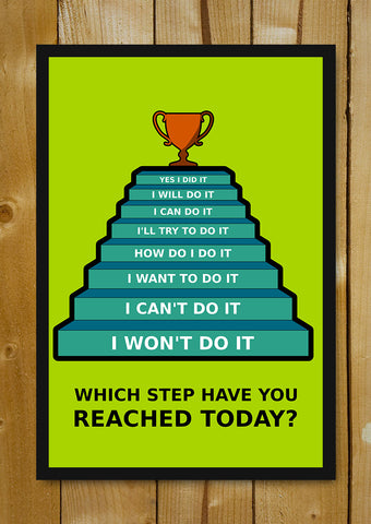 Glass Framed Posters, Success Steps Glass Framed Poster, - PosterGully - 1