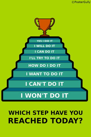 Wall Art, Success Steps, - PosterGully