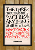Glass Framed Posters, Success Thomas Edison Motivational Glass Framed Poster, - PosterGully - 1