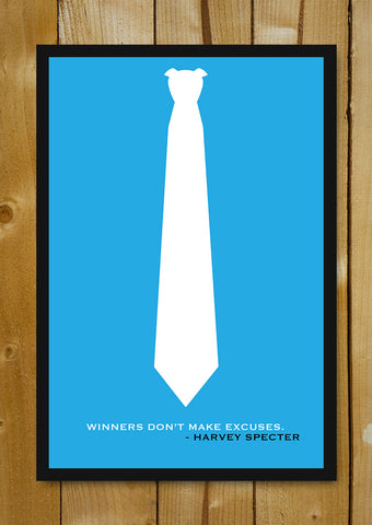 Glass Framed Posters, Suits Harvey Specter Minimal Artwork Glass Framed Poster, - PosterGully - 1