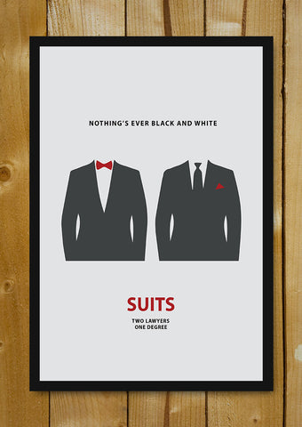 Glass Framed Posters, Suits Minimal Art Glass Framed Poster, - PosterGully - 1